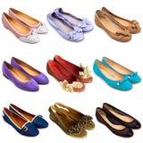 2 plana skor för balett Fotografering för Bildbyråer