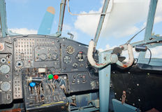 An-2 plane cockpit Royalty Free Stock Photo