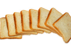 2 plastry chleba Zdjęcia Stock