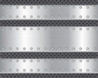 2 plateados de metal stock de ilustración