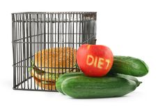 2 pojęć dieta obrazy royalty free