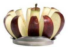 2 pokroić jabłka zdjęcie royalty free