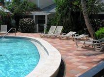 2 poolside Fotografia Stock