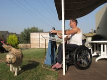 2 pralni wózek inwalidzki Zdjęcie Stock
