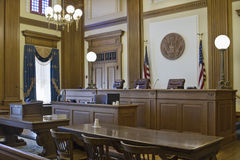 2 prośby absztyfikują sala sądową Obraz Royalty Free