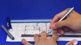 2 projektów plan piętra Obrazy Royalty Free
