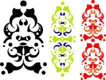 2 projekt geometrycznego abstrakcyjne Obraz Royalty Free
