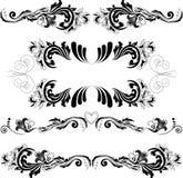 2 prydnadar ställde in symmetriskt Royaltyfria Foton