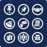 2 przedsiębiorstw 5 ikon biuro zestaw części Obrazy Stock