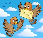 2 ptaków wizerunku temat Obrazy Stock