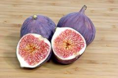 2 purpura figs Arkivfoton