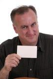 2 pustej karty człowiek uśmiecha się Obrazy Royalty Free
