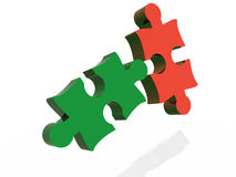 2 puzzles Stock Photography