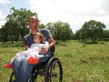 2 pykniczny wózek inwalidzki Fotografia Stock