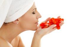 2 röda petals Arkivbilder