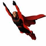 2 röda super för hjälte royaltyfri illustrationer