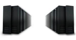 2 rader av beräknande serveror för oklarhet Royaltyfri Bild