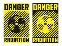 2 radiation posters. Vector illustration Stock Photo