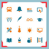 2 ramowych ikon szkolnych serii Zdjęcia Stock