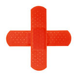 2 Red Bandages Making Red Cros Royalty Free Stock Photos