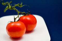 2 red tomatoes Royalty Free Stock Photography