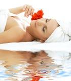 2 relaxation sand spa λευκό Στοκ Φωτογραφίες
