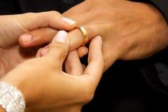 2 ringowy ślub Fotografia Royalty Free