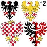 2 örnar heraldisk vol Royaltyfria Foton