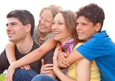 2 rodzin zabawa Fotografia Stock