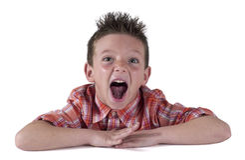 2 roliga trevligt för barn Fotografering för Bildbyråer