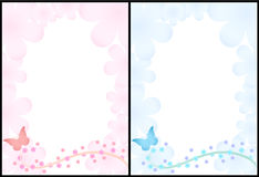 2 romantic backgrounds. Vector illustration vector illustration
