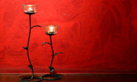 2 rose lamp Royalty Free Stock Photography