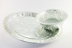 2 round catering tray Stock Photography