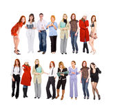 2 rows of people Royalty Free Stock Photos