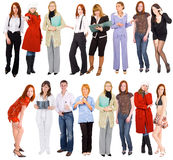 2 rows of people Royalty Free Stock Photography