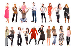 2 rows of young people Stock Photos