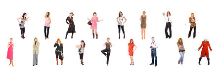 2 rows of young people Stock Images