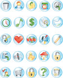2 rundę ikony royalty ilustracja