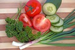 2 salladgrönsaker arkivfoton