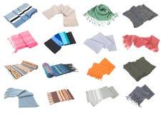 2 samling inställda isolerade scarfs Royaltyfria Bilder