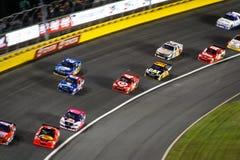2 samochodów Charlotte nascar zwrot Zdjęcie Stock