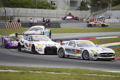 2 samochodów greentech prowadzeń drużyny zwrot Obraz Stock