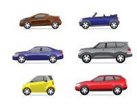 2 samochodów ikon część Ilustracji