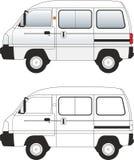 2 samochodów ilustracyjny samochód dostawczy wektor Zdjęcia Stock