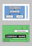 2 samples of business card design. In vector format Royalty Free Stock Images