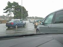 2 sandbanks Poole Dorset sea breached road Royalty Free Stock Photos