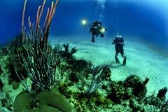 2 Scuba Diver Underwater Royalty Free Stock Photos