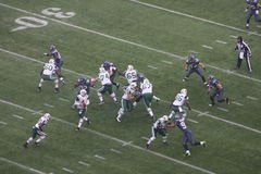 2 seahawks de Seattle contra New York Jets Foto de archivo