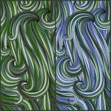 2 seamless abstract pattern Stock Photo