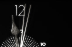 2 seconds. Macro of a clock, showing 2 seconds time royalty free stock images